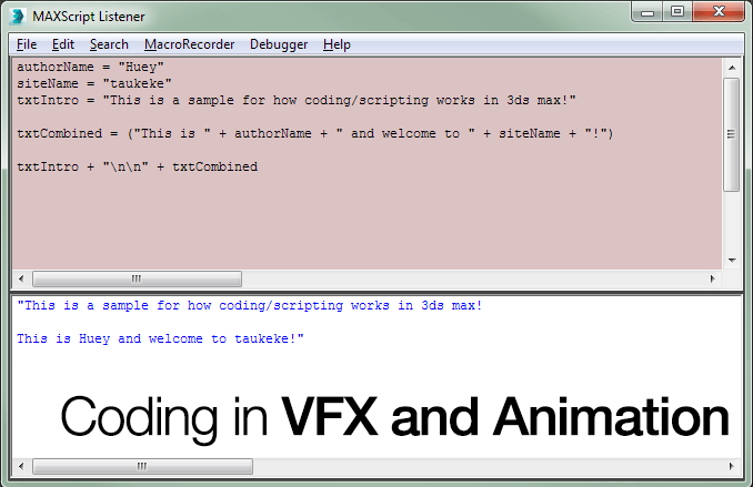 Coding in VFX and Animation Header