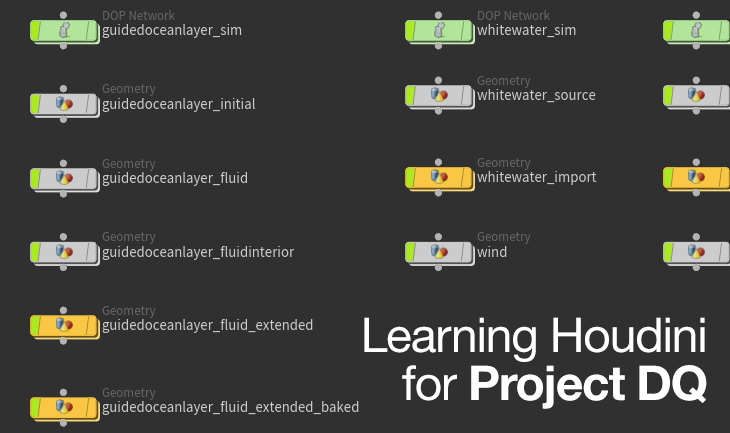Learning Houdini for Project DQ - taukeke